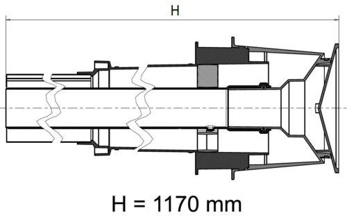 Universal Abgaszubehör Formteile Brennwertkessel Dachdurchführung DN 60//100