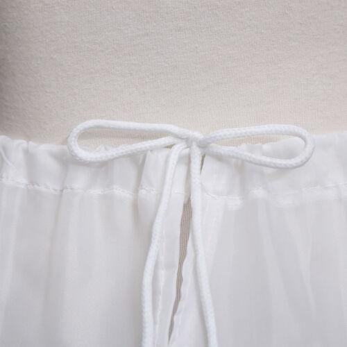 """21/""""-26/"""" Girls Flower Dresses Petticoat Crinoline Wedding Underskirt Slips 3 Hoop"""