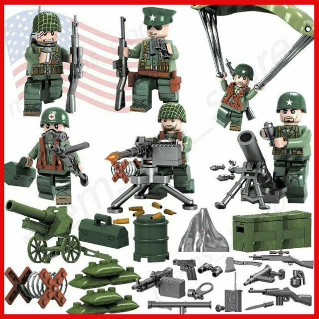 WW2 Classic Military lego Soldiers Building Block Brick SWAT Special Force Army