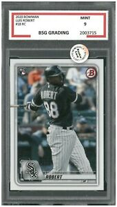 2020 BOWMAN LUIS ROBERT #18 ROOKIE CARD  ~ BSG Graded 9