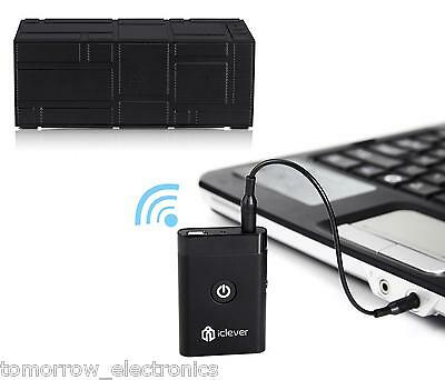 iClever® Bluetooth Stereo Audio Music Receiver and Transmitter 2-In-1 Adapter