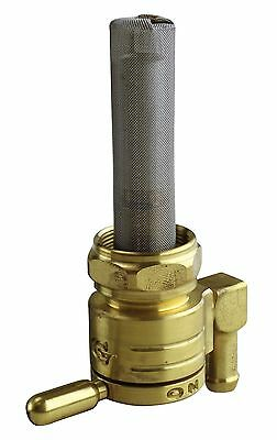 Golan Brass High Flow Click-Slick Petcock w/ Downward Facing Outlet for Harley