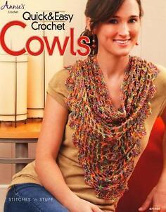 Quick & Easy Crochet Cowls Annie's Attic Crochet Pattern Book | eBay