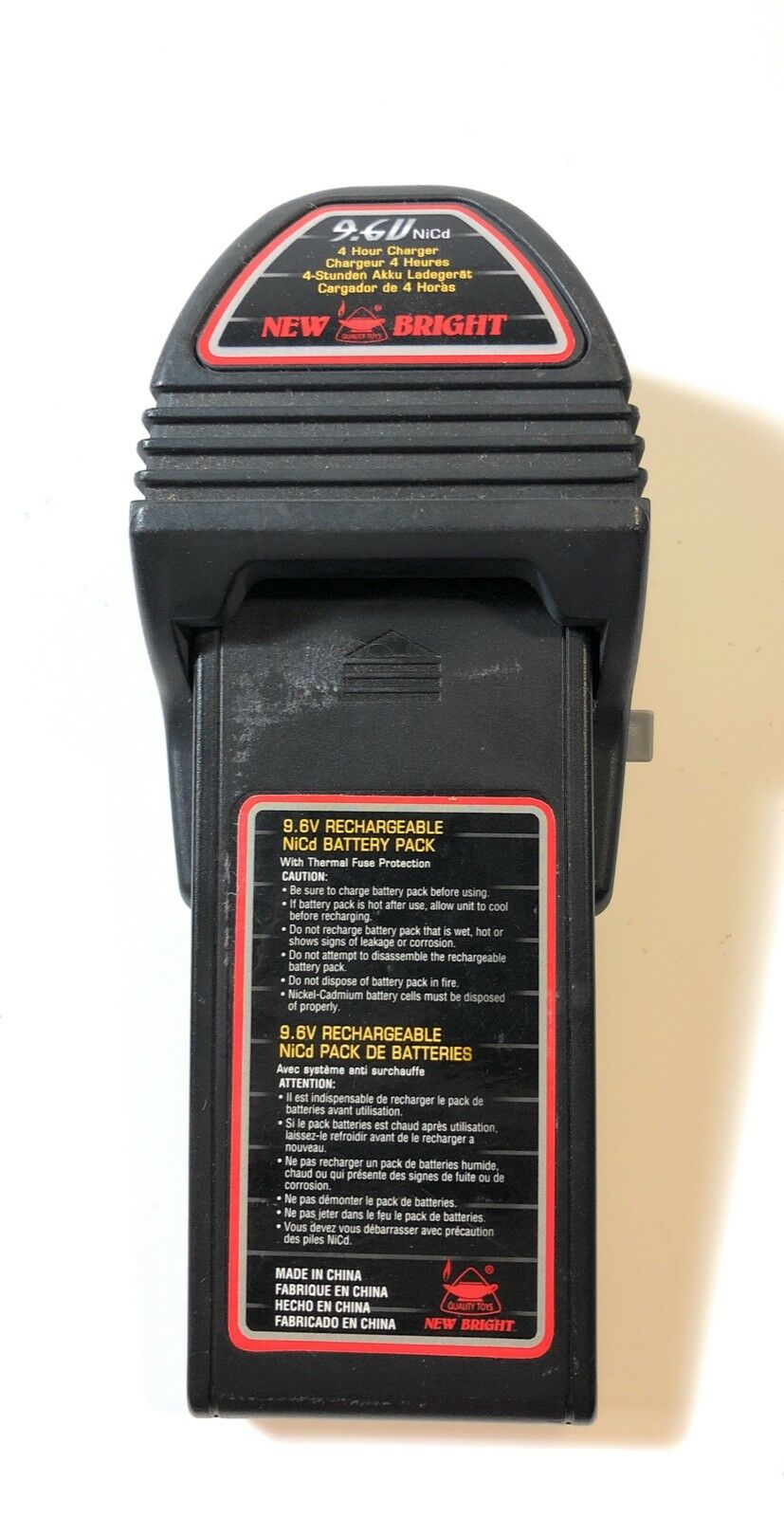 New Bright R C 9.6V Nicd Battery and Charger Combo 4 Hour Charger