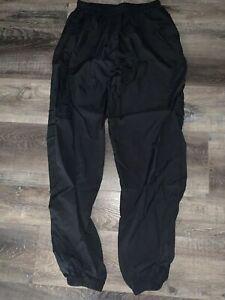 Reebok De Coleccion Para Hombre Negro Delgado Atletico Futbol Work Out Pantalones De Pista B L Ebay