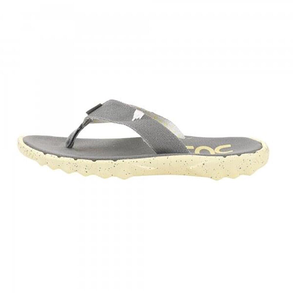 Hey Dude NEW Men's Sava Flip Flops - Grey   Lemon BNWT