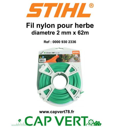 STIHL Fil nylon rond herbe 2mm x 62m  0000 930 2336