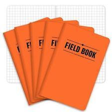 Field Notebookpocket Journal 35x55 Orange Graph Memo Book Pack Of 5