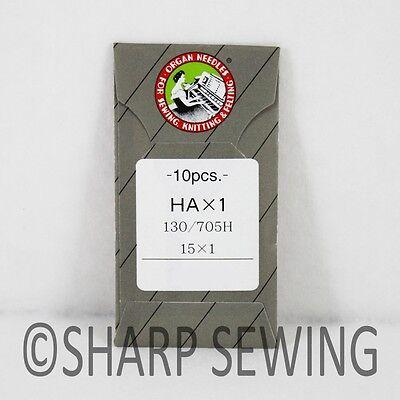 10 ORGAN #12 15X1SP HAX1SP STRETCH ELASTIC HOME SEWING MACHINE NEEDLE FLAT SHANK