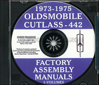 Olds CD Assembly Manual S Supreme 442 Salon Cutlass 1973 1974 1975 Oldsmobile
