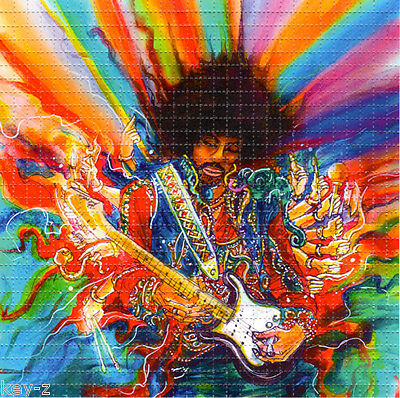 JIMI HENDRIX HALLUCINATION BLOTTER ART perforated psychedelic LSD Acid Art paper