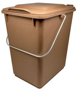 SULO Abfallsammler 10l Ku. braun M.klappdeckel für Bioabfall