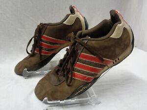 Adidas Original Mens Sz 9 Brown Red Stripe Adi Low Racer