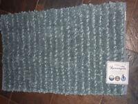 Kensington 21 X 34 Blue Accent Rug/ Bath Tub Mat/rug