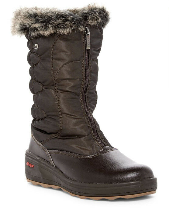 NEW PAJAR Donna Patty Faux Fur Brown Winter Boot w/Ice Grippers US 8-8.5/EUR 39