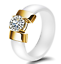 Indexbild 9 - KERAMIK Ring STRASS silber gold Fingerring weiß schwarz LUXUS +++ AUSWAHL