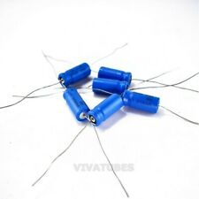 Lot Of 6 Vintage Sprague Electrolytic Axial Capacitors 50uf 50v