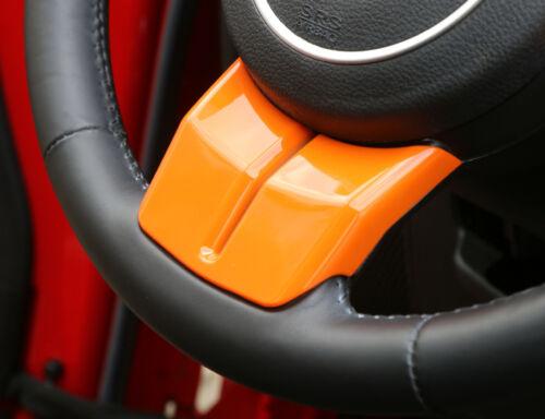 3* Orange Steering Wheel Cover Trim fit Wrangler Patriot Compass Grand Cherokee