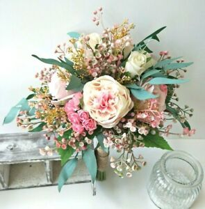 Artificial Silk Wedding Bouquet Australian Native Fake Flowers Bridal Bouquets Ebay