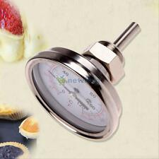 """1/2"""" NPT Stainless Steel Oven Cooking BBQ Thermometer Food Meat Gauge 250°C NEW"""
