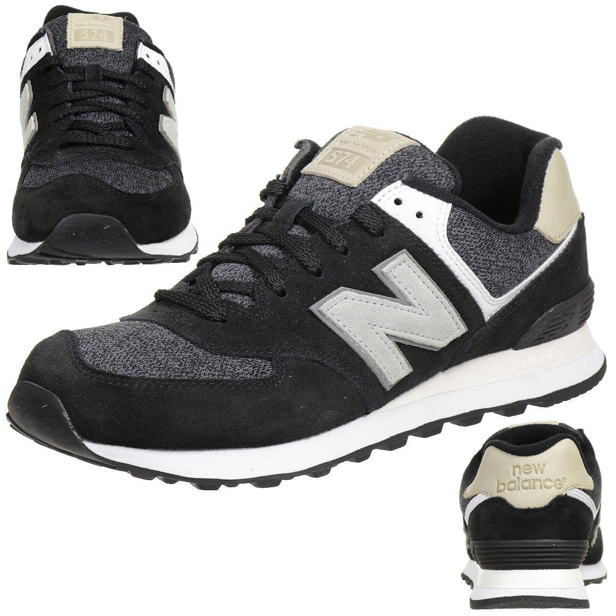 New Balance ML 574 VAI Classic Sneaker Herren Schuhe schwarz
