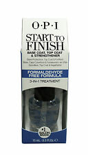 OPI Start To Finish Base Coat, Top Coat - Nail Strengthener, 0.5 oz (Pack of 3)