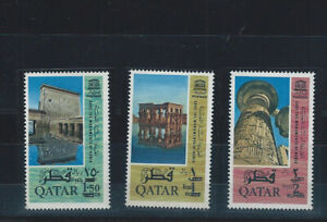 Middle-East-Qatar-Quatar-REVALUED-3-hi-value-mnh-stamps-from-the-nubia-set
