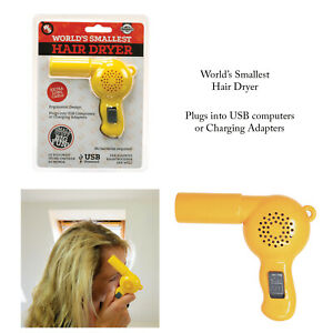 Funtime-Worlds-Smallest-Novelty-Desktop-Travel-Portable-Hair-Dryer-Gift-Gadget