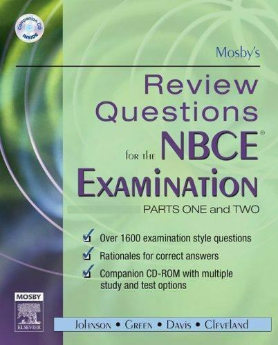 Mosby S Review Questions For The NBCE Examination Pts 1 2 By Mosby Publishing Staff 2005 Paperback