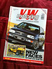 Volkswagen VW Motoring Oct 1991 Scirocco Scala, Golf Mk3, Karmann Ghia, Audi 80