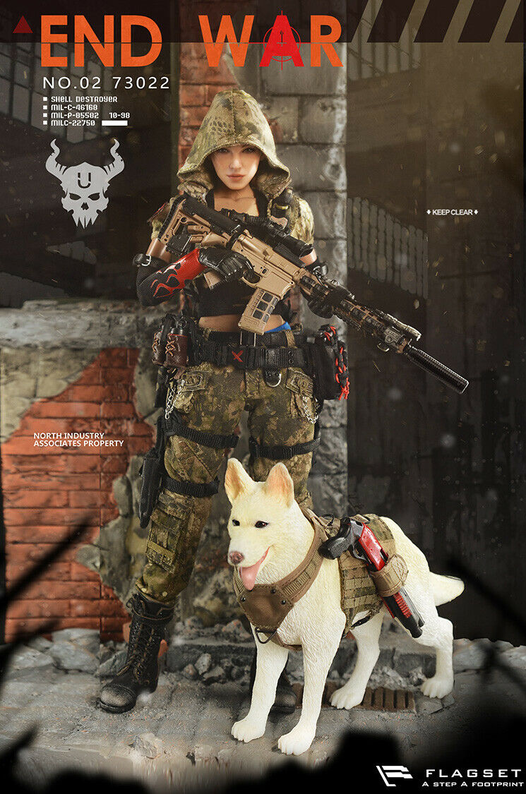 FLAGSET DOOMSDAY WAR serie END WAR DEATH SQUAD  U  Umir + Hund Suit 1 6 FIGURE