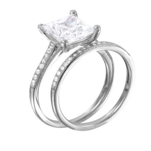 925 Argent Sterling Femme Empilable Bridal Ring with Diamonds SZ 5-9//nouveau design!