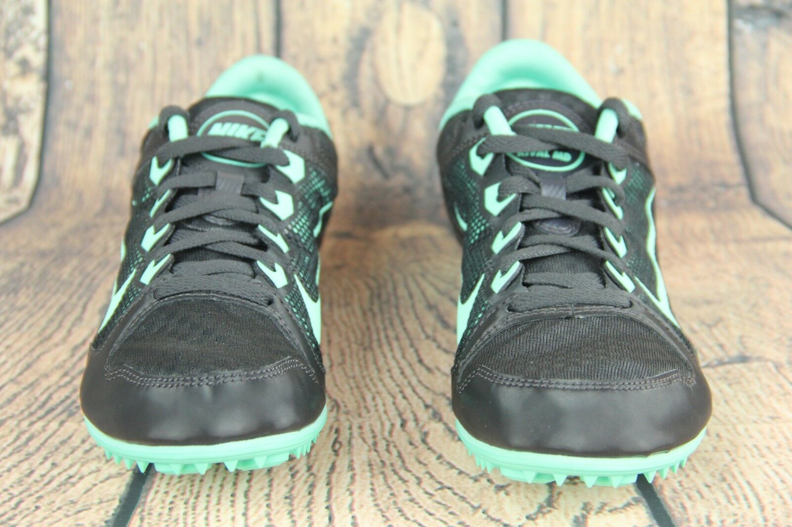 Nike Womens shoes Zoom Rival MD Track Cleats Black Green 615982-030 Size US 8