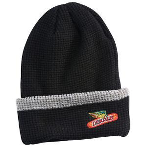 DEKALB SEED *BLACK /& YELLOW* Knit Stocking Cap* w//PATCH LOGO  HAT *BRAND NEW*