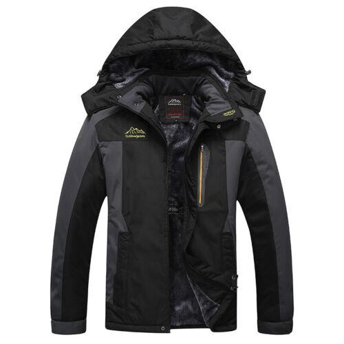 Mens Winter Ski Jacket Outerwear Mountain Coat Warm Waterproof Hooded Raincoat