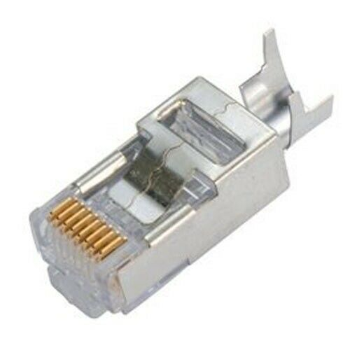 20pc RJ45 Cat6A Modular Plug Shielded 50micron,1.2mm