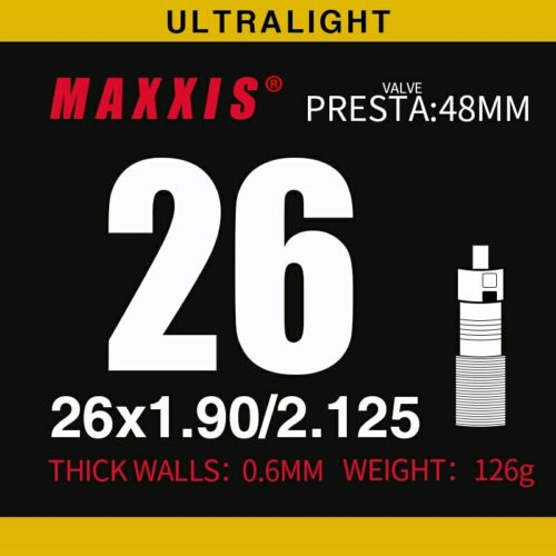 Ultralight MAXXIS bicycle inner tube all size 29er 700C AVFV stab blow proof MTB