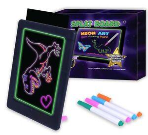 Splat-Planet-NEON-Art-Board-Childrens-Drawing-Sketch-LED-Light-Tablet