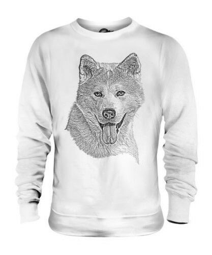 AKITA INU SKETCH UNISEX PRINTED SWEATER TOP GREAT GIFT FOR DOG LOVER SPITZ