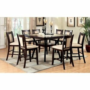 Details About Furniture Of America Melott 9 Piece Counter Height Dining Set