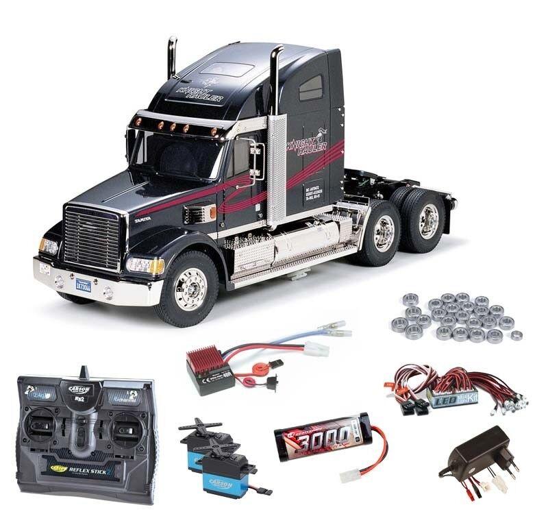 Tamiya Truck Knight hauler hauler hauler kit completo + LED, rodamientos de bolas - 56314set2  alto descuento