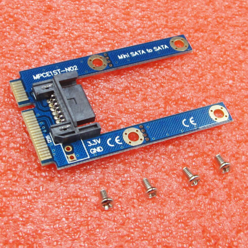 New mSATA Mini Extender to 7 Pin SATA HDD Convert Card Adapter Board