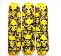 Shock Covers Honda Rancher Yellow Skulls Atv Set Of 3