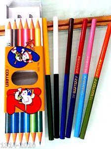 colleen color pencil dual head 12 colors in 6 pencils in a box