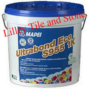 Details about Mapei Ultrabond Eco S955 1K Wood Adhesive 15kg Tub with  Spreading Trowel