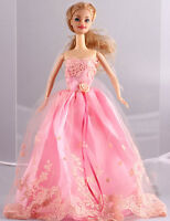 Fashion  Handmade Pink The original soft clothes dress for barbies doll 1089