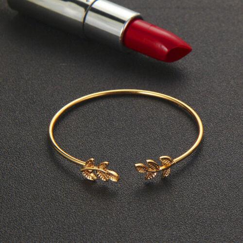 4pcs//set Women Leaf Knot Hand Cuff Chain charm Rope Bead Bracelet Jewelry Gift