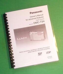 laser 8 5x11 panasonic dmc ts4 advanced camera 205 page owners rh ebay com lumix dmc-ts4 manual lumix dmc-ts4 manual
