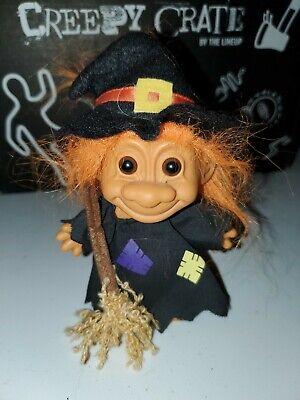 "Troll Doll 4 1//2/"" Russ Halloween Witch Orange Hair"