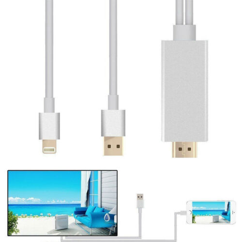 1 pcs 8 Pin Lightning to HDMI HDTV AV Cable Adapter for iPhone 7Plug 7 6s 6 Plus